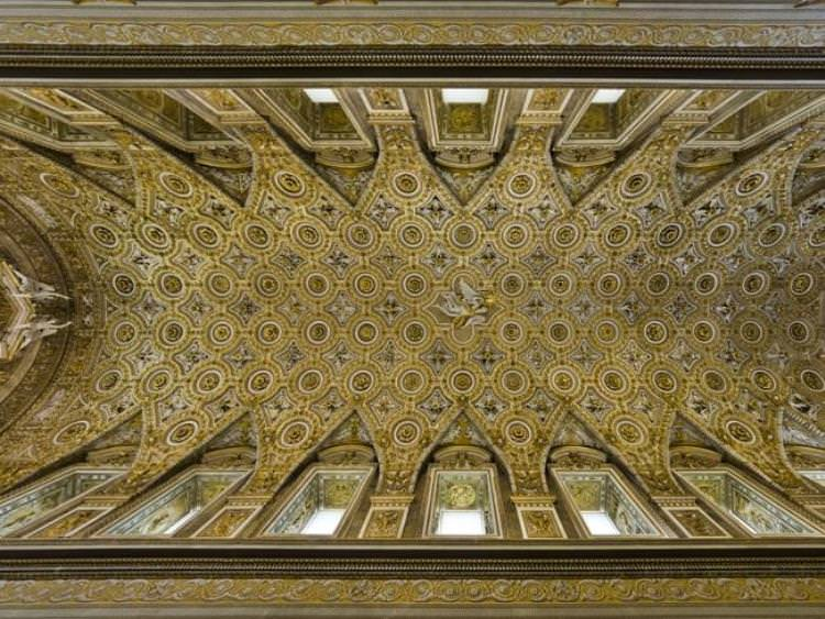 A view of the ceiling of the Pauline Chapel inside the Quirinale Presidential Palace. Source: AP