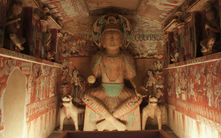 A-Reproduction-Of-A-Cave-Interior-Mogao-Caves-China