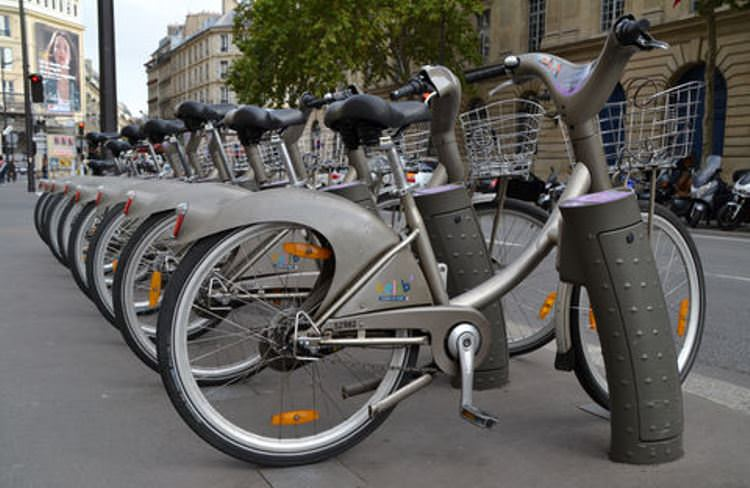 Velib bike rental stations dot the city, making it a highly convenient