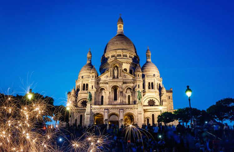 Perched at the top of Montmarte, the Sacre Coeur's views of the cityscape rival even those of the Eiffel Tower.