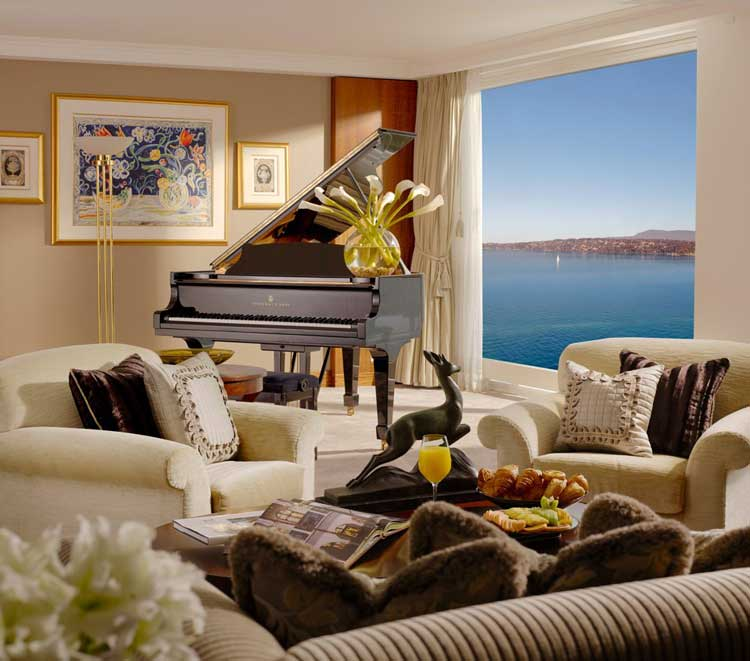 The Royal Penthouse Suite at the Hotel President Wilson in Geneva, Switzerland