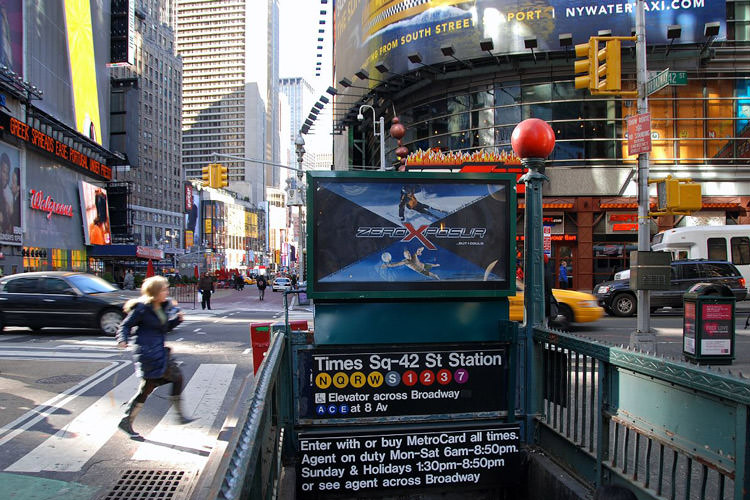 New-York-City-Times-Square-Day-Time-01-Subway-Station-Exit-Loking-North