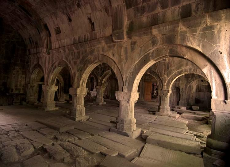 Interior of Sanahin Monastery, near Alaverdi, Northern Armenia