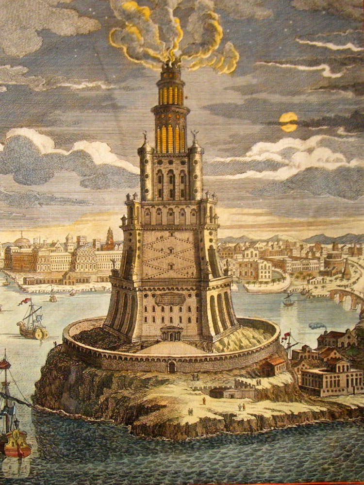 egypt-1744-folio-hand-col-print.-ptolemy-lighthouse-of-alexandria-egypt-[2]-53630-p