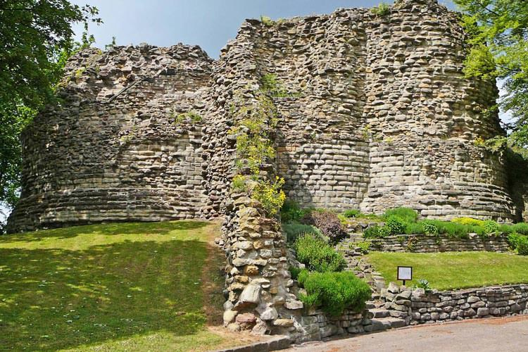 Pontefract Castle in Yorkshire