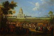 بازدید لوئیس چهاردهم از هتل جانبازان جنگی فرانسه