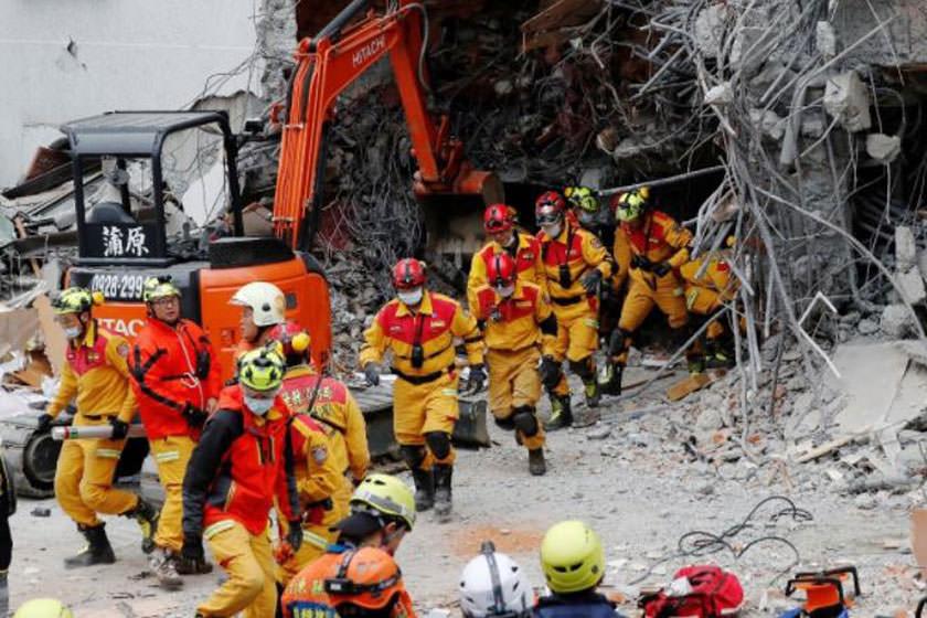 حداقل ۵ کشته در زمین لرزه ۶.۴ ریشتری تایوان