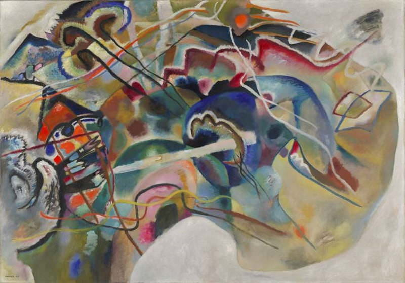 PAINTING WITH WHITE BORDER BY WASSILY KANDINSKY